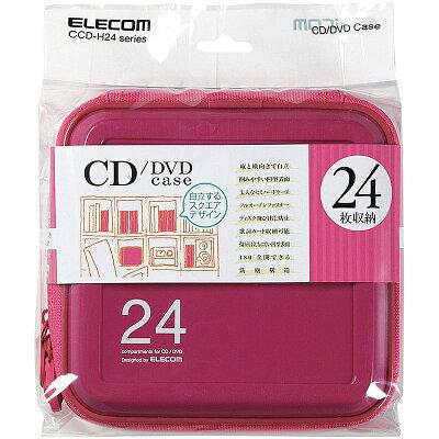 エレコム CD/DVDファスナーケース CCD-H24PN(1コ入)