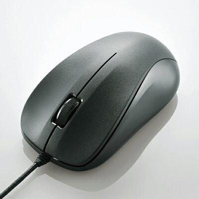 エレコム マウス USB光学式 有線 Mサイズ 3ボタン ブラック M-K6URBK/RS(1個)