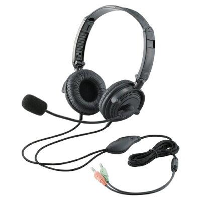 ELECOM ヘッドセット両耳オーバーヘッド HS-HP20BK