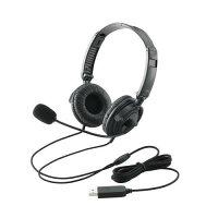 ELECOM USBヘッドセット 両耳オーバーヘッド  HS-HP20UBK