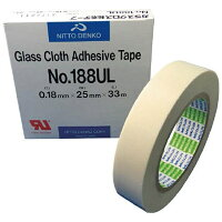 日東工器 ガラスクロス粘着テープ NO.188UL 19mmX33m 188UL19 5038 3776859