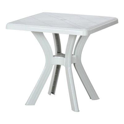 FBC/不二貿易 PCスクエアテーブル ホワイト 12283