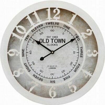 不二貿易 ウォールクロック OLD TOWN 直径50cm 20717