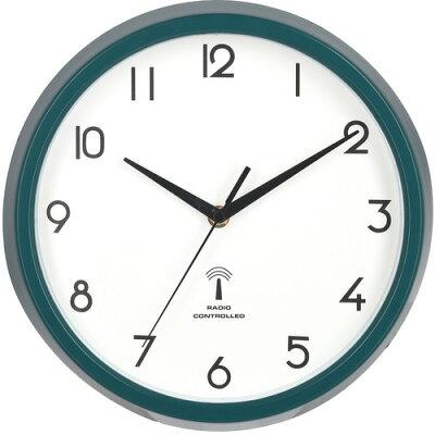 27267 不二貿易 電波掛け時計 カペラ グリーン