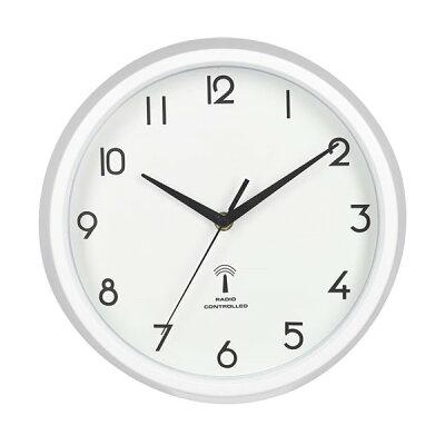 27268 不二貿易 電波掛け時計 カペラ ホワイト
