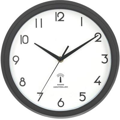 27269 不二貿易 電波掛け時計 カペラ ブラック