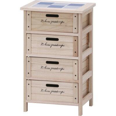 不二 木製4段ボックス HF05-003N