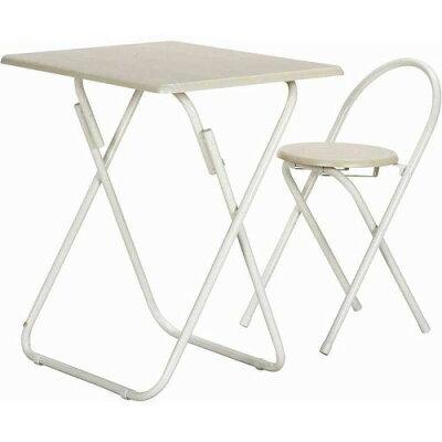 組立家具 テーブル&チェアーセット WH/WH 83438