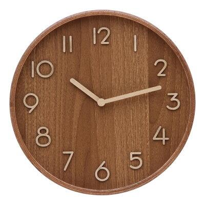 プライウッド掛時計 Φ28cm BR   85377 / 4953980853776 / 不二貿易 株