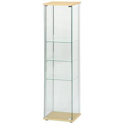 ガラスコレクションケース 4段 ナチュラル・ホワイト・ブラウン