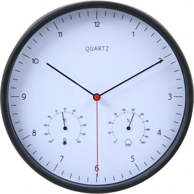 掛時計 ローレス 温湿度計付 直径25cm