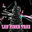 クリスマスツリーに最適!高輝度ledファイバーツリー  ブラック、高さ