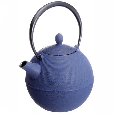 藍花 鉄急須 日の丸 紫紺 10258