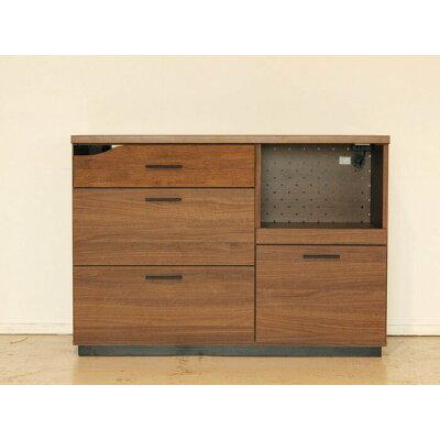 北欧モダンデザイン キッチンカウンター Quatro クアトロ 120カウンター 収納家具