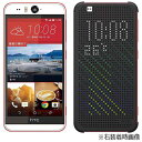 HTC LTE対応 SIMフリー Android 5.1スマートフォン Desire EYE スカーレット 5.2型 メインメモリ 2GB・eMMC 16GB +専用ケース Dot View-Premium スレート・グレイ