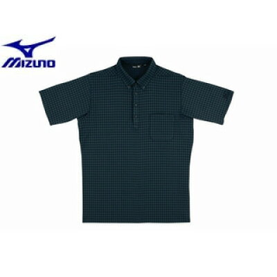Mizuno/ミズノ A87HS171 MRB メンズ 半袖シャツ[ブラック]【LLサイズ】
