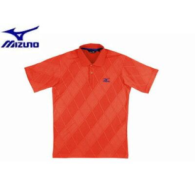 Mizuno/ミズノ A87HS173 MRB メンズ 半袖シャツ[オレンジ]【Lサイズ】