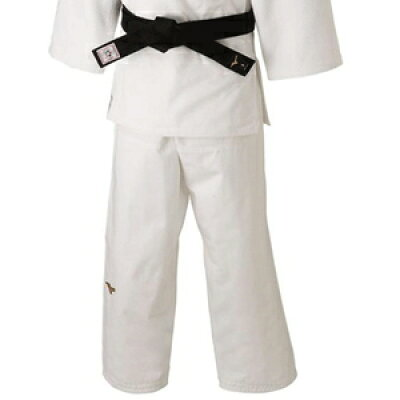 22JB8A01014.5 ミズノ ユニセックス 柔道衣 新規格 パンツのみ ホワイト・サイズ:標準・4.5号 全柔連・IJF新規格基準モデル