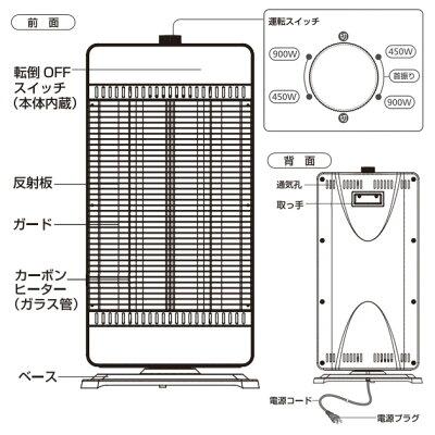 テクノス カーボンヒーター CHM-4531(K)