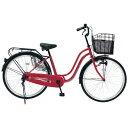チャクル 26型 ノーパンク自転車 CHACLE レッド/シングルシフト FP-CCB260S