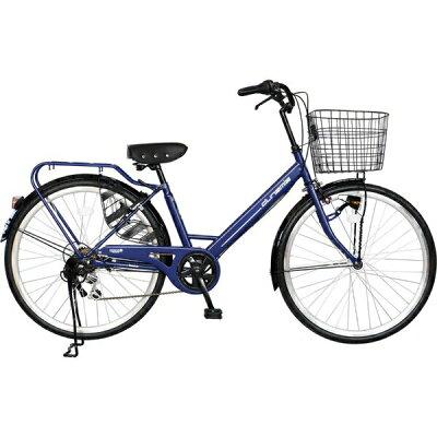 チャクル 26型 ノーパンク自転車 ネイビー/6段変速 FQ_CC266V_HD_BAA_B