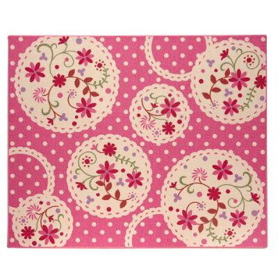 イケヒコ カーペット・ラグ・マット デスクカーペット ファブリック (商品名:パミュ 平織) サイズ(形状):133×170cm カラー:ピンク
