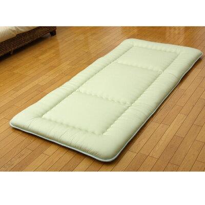 イケヒコ・コーポレーション ヒバエッセンス使用 敷き布団 i森の眠り グリーン シングルロング 100×210cm