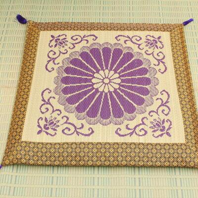 イケヒコ・コーポレーション 純国産 袋織 い草御前 仏前 座布団 三千院 約70×70cm