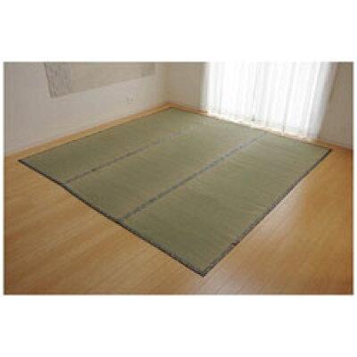 純国産 い草 上敷き カーペット 糸引織 湯沢 本間6畳 約286×382cm