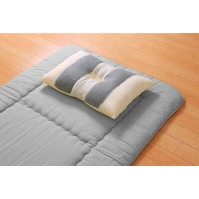 国産竹炭パイプ入り 竹炭リバーシブル枕 約43×63cm リバーシブルタイプ
