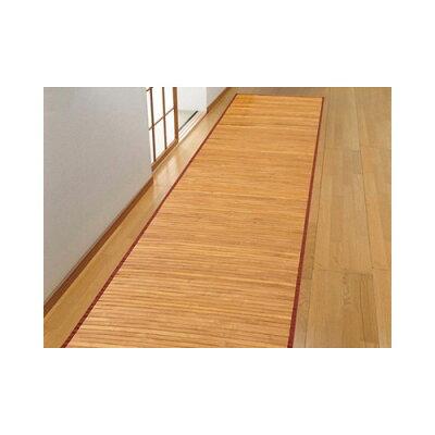 イケヒコ・コーポレーション 孟宗竹 皮下使用 竹廊下敷 ローマ ライトブラウン 80×440cm 5309590