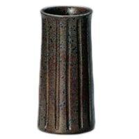 常滑焼 茜窯 南蛮反形線花瓶 3-847