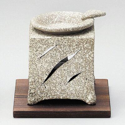 (伝統工芸 常滑焼) 山房 石風角形茶香炉