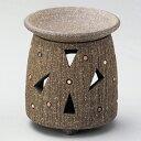 (伝統工芸 常滑焼) 萬翠窯 焼〆三角柄茶香炉