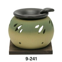 常滑焼9-241 山房 丸形枇杷茶香炉 AM-T1624