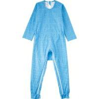 ケア商品 介護つなぎ服 背開き ブルー M