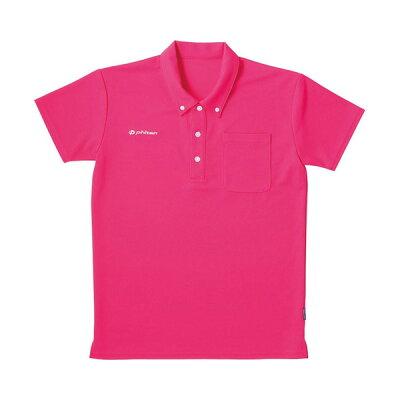 フットマーク×ファイテン 介護ウェア ボタンダウンシャツ ピンク LL  ポロシャツ・トレーナー