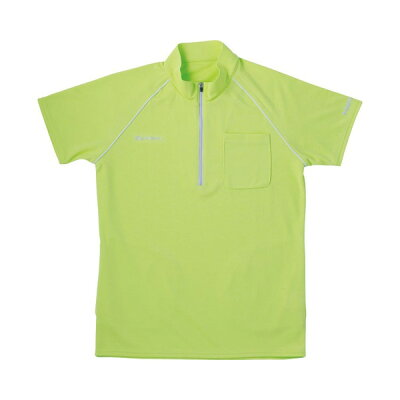 介護ウェア ジップアップシャツ グリーン L  ポロシャツ・トレーナー