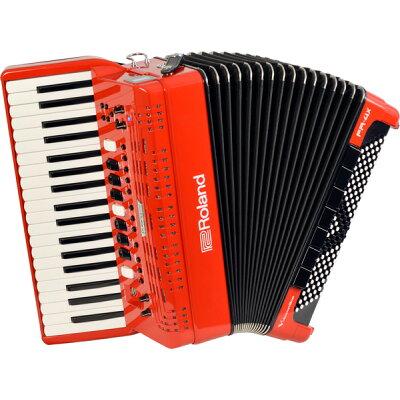 roland fr- rd v-accordion レッド デジタルアコーディオン ピアノ鍵盤タイプ