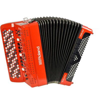 roland fr- b rd v-accordion レッド デジタルアコーディオン ボタン鍵盤タイプ