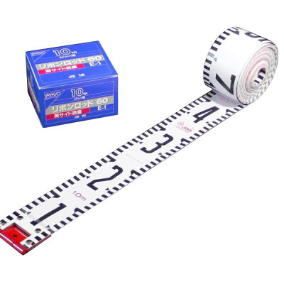 ヤマヨ YAMAYO R6A50 リボンロッド両サイド60E-1 現場記録写真用巻尺 R6A50