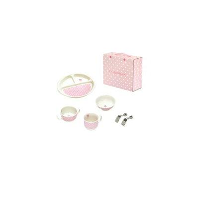 はじめての食器 6点セットキャンディリボン/ピンク(1セット)
