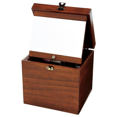 手作り 木製メイクボックス 国産木製コスメティックボックス M