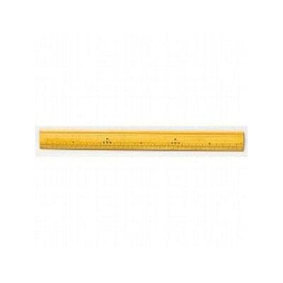 櫛田度器製作所 竹尺 30cm 溝付き 27-0340