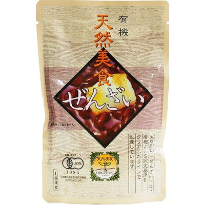 遠藤製餡 天然美食 有機パウチぜんざい(180g)