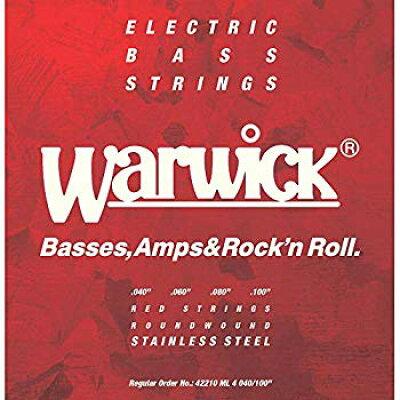 WARWICK RED Label Stainless Steel 4弦セット Medium Light 40-100 ベース弦