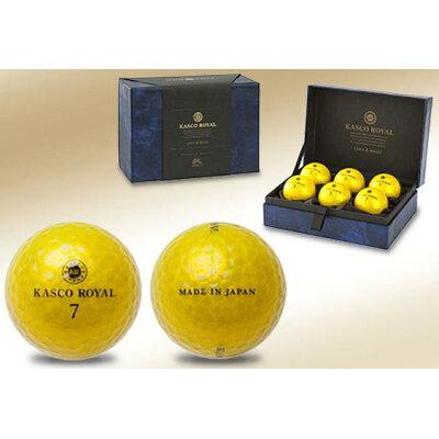 キヤスコロイヤル2 6コ ゴ-ルド キャスコ ゴルフボール キャスコロイヤル2 5ピース 6個入 ゴールド キヤスコロイヤル26コゴルド