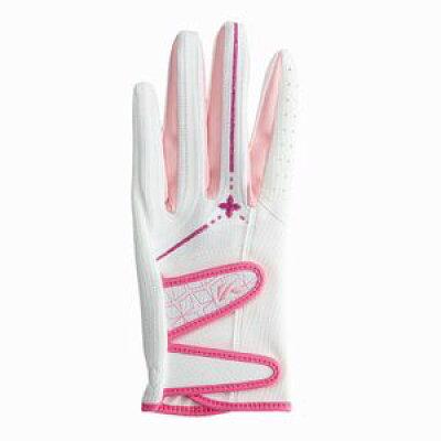 SF-1416LWホワイト/ピンク S キャスコ パームフィットレディス 合成皮革グローブ 両手用 ホワイト/ピンク Sサイズ 17~18cm Kasco SF1416LWホワイトピンクS