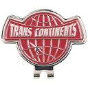 クラベリアTRANS CONTINENTS ロゴデザイン クリップマーカー レッド TCCM-01 TCCM01