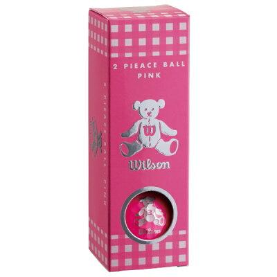 BEAR3 PK 12P ウイルソン レディースゴルフボール ウイルソンベア 3 ピンク WilsonBear BEAR3PK12P